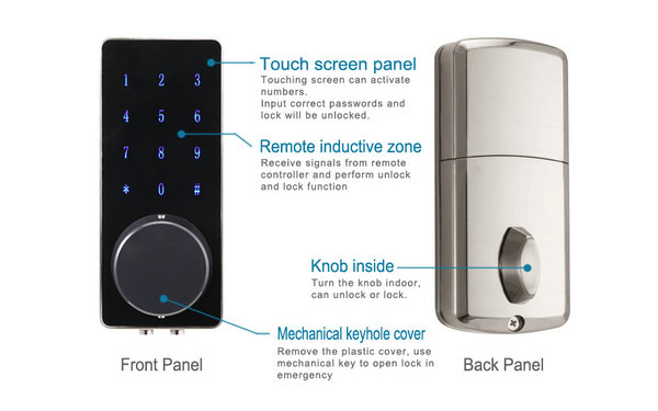 Bluetooth lock product introduction chart