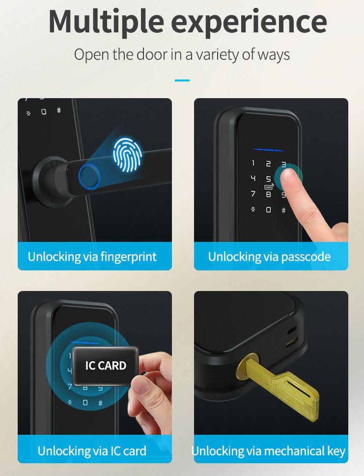 JYF-T2019X Tuya WIFI Lock Door opening method