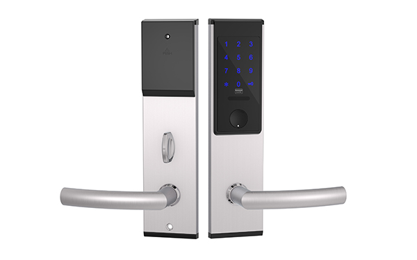 TTlock Hotel Lock JYC-H3213T Silver Handle with loop