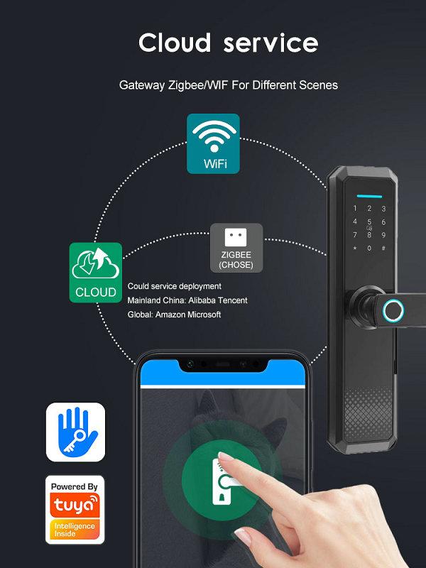 JYF-T2019B2 WIFI TUYA Lock Remote call unlock