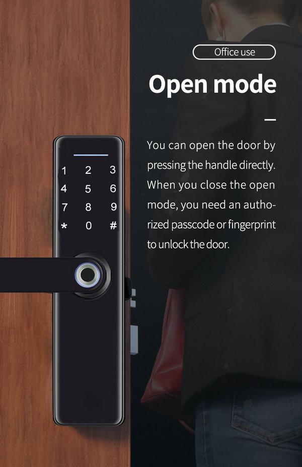 JYF-T2019B3 WIFI TUYA Lock Open mode