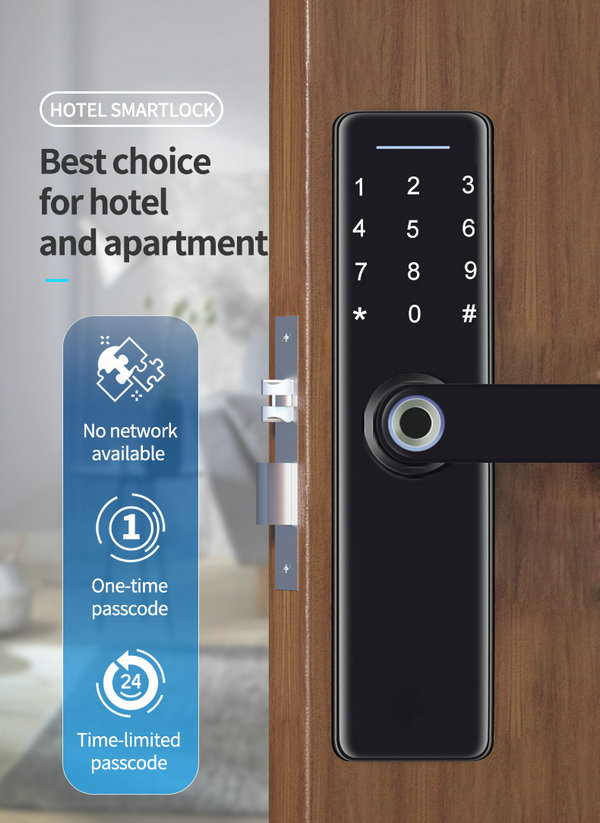 JYF-T2019B3 WIFI TUYA Lock Best choice for hotel and apartment