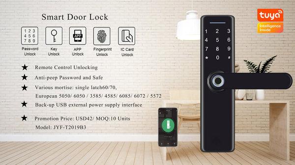 JYF-T2019B3 WIFI TUYA Lock parameter